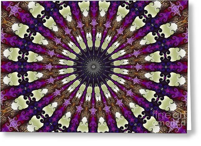 Kaleidoscope Iris Greeting Card by Suzanne Handel