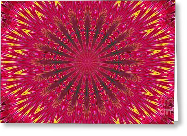 Kaleidoscope Orchid Greeting Card by Suzanne Handel