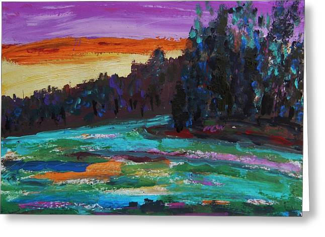 Kaleidoscope Sky Greeting Card by Mary Carol Williams
