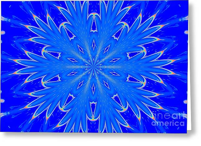Kaleidoscope Snowflake Greeting Card by Suzanne Handel