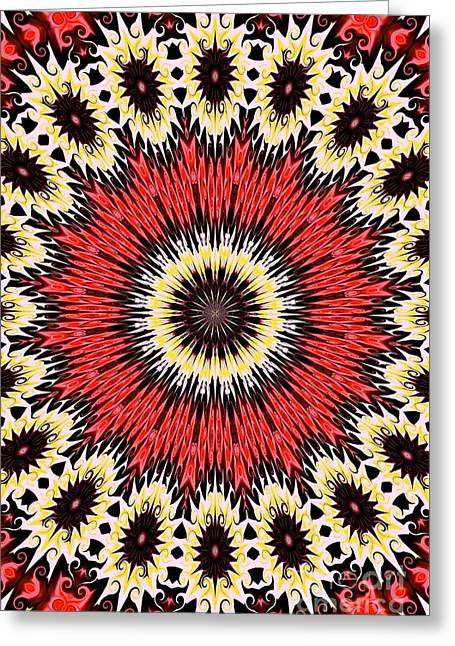 Kaleidoscope Torch Greeting Card by Suzanne Handel