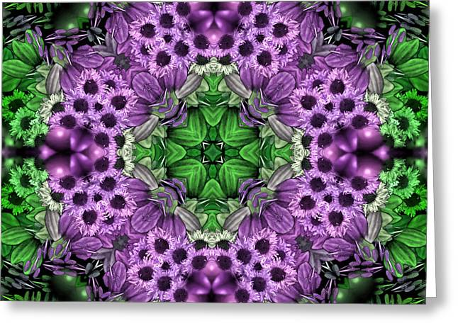 Kaleidoscopic 2 Greeting Card by Gabour Demans