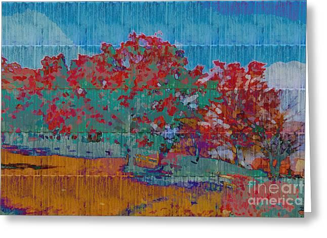 Kaleidoscopic Autumn Scene I Greeting Card