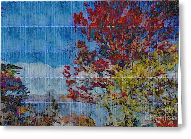 Kaleidoscopic Autumn Scene II Greeting Card