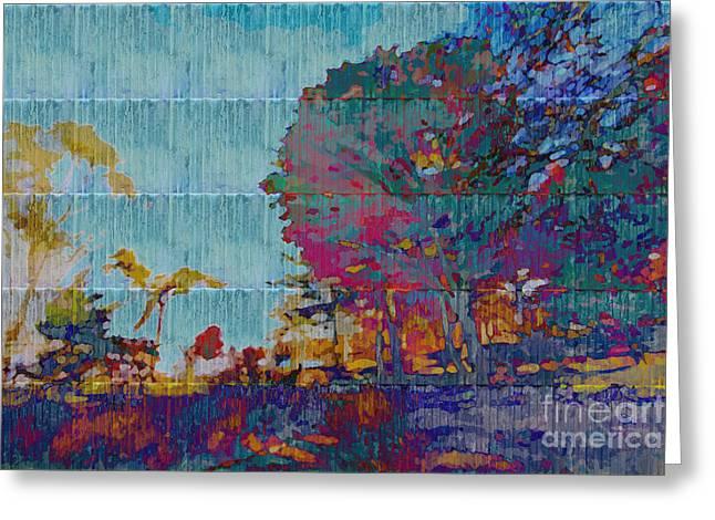 Kaleidoscopic Autumn Scene IIi Greeting Card