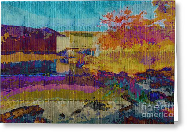 Kaleidoscopic Autumn Scene V Greeting Card