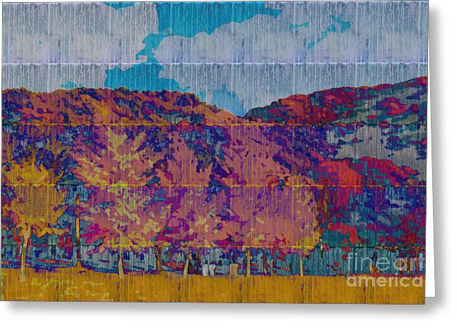 Kaleidoscopic Autumn Scene Vi Greeting Card