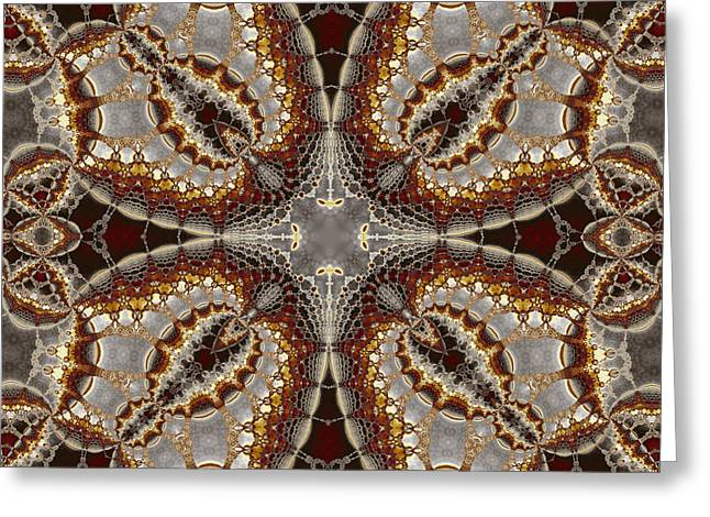 Kaleidoscopic No. 5 Greeting Card by Mark Eggleston