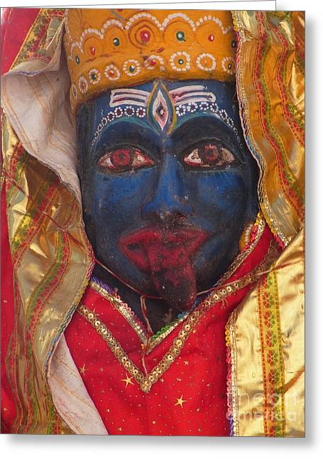 Kali Maa - Glance Of Compassion Greeting Card by Agnieszka Ledwon