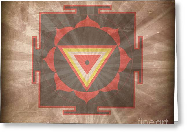 Kali Yantra Greeting Card by Sacred  Muse
