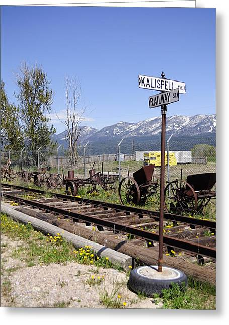 Kalispell Crossing Greeting Card by Fran Riley