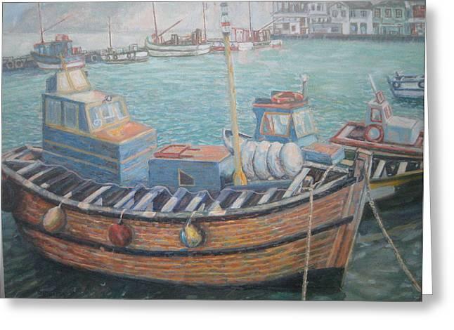 Kalk Bay Harbor Greeting Card