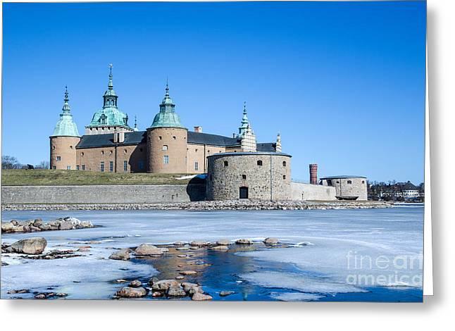 Greeting Card featuring the photograph Kalmar Medieval Castle by Kennerth and Birgitta Kullman