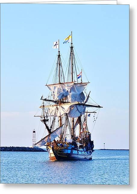 Kalmar Nyckel Tall Ship Greeting Card