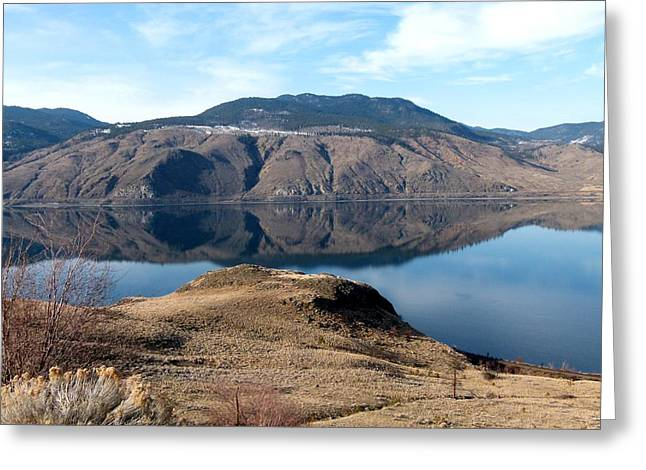 Kamloops Lake Greeting Card by Will Borden