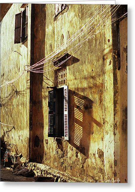 Kampot Lane Greeting Card by Rick Piper Photography