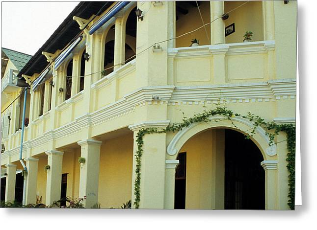 Kampot Old Colonial 08 Greeting Card by Rick Piper Photography
