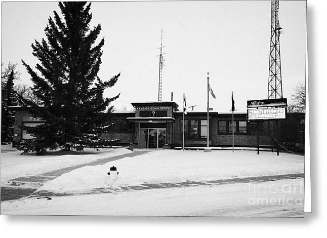 Kamsack Town Office Saskatchewan Canada Greeting Card by Joe Fox