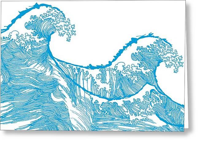 Kanagawa Wave Greeting Card by Sarah Hough