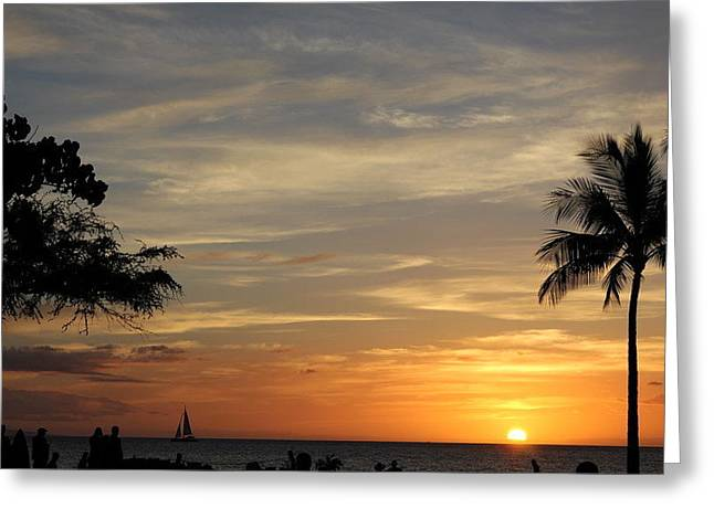 Kanapali Sunset Greeting Card