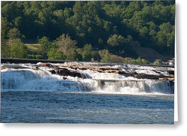 Kanawah Falls I - Spring Greeting Card by Paulette B Wright