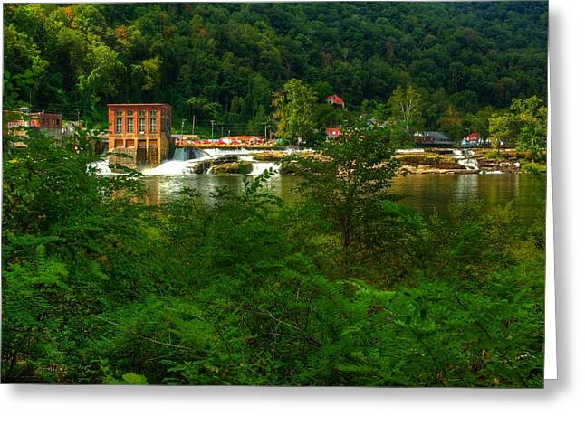 Greeting Card featuring the photograph Kanawha Falls by Dave Files