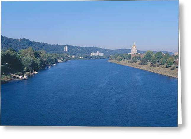 Kanawha River, Charleston, West Virginia Greeting Card by Panoramic Images