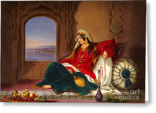 Kandahar Lady Of Ranks Greeting Card by Ames Rattray