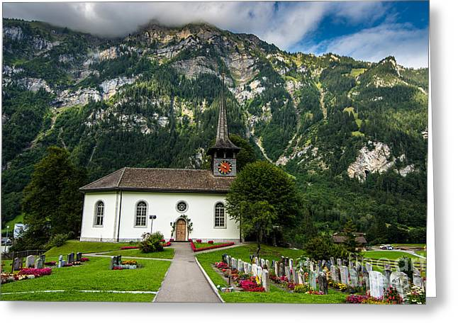 Kandergrund Church - Switzerland Greeting Card by Gary Whitton