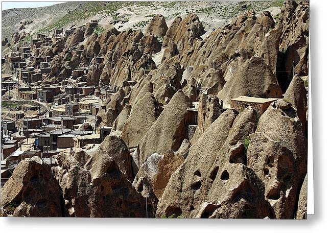 Kandovan Cliff Village Greeting Card by Babak Tafreshi