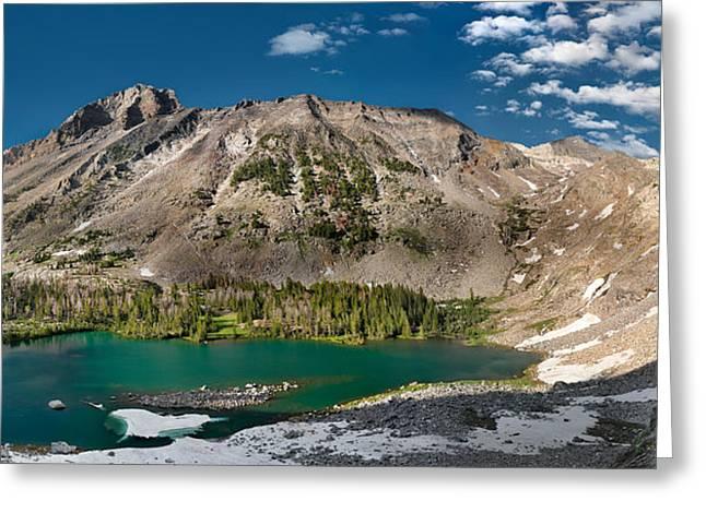 Kane Lake Panoramic Greeting Card by Leland D Howard