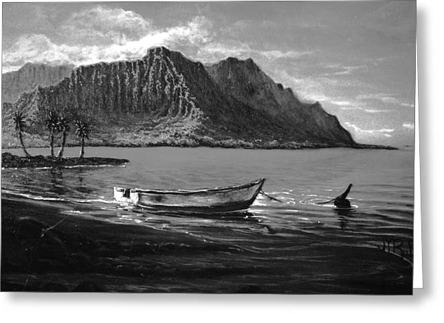Kaneohe Bay Early Morn - Study Greeting Card