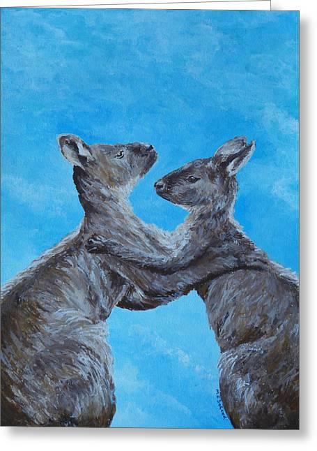 Kangaroo Island Kangaroos Greeting Card by Margaret Saheed