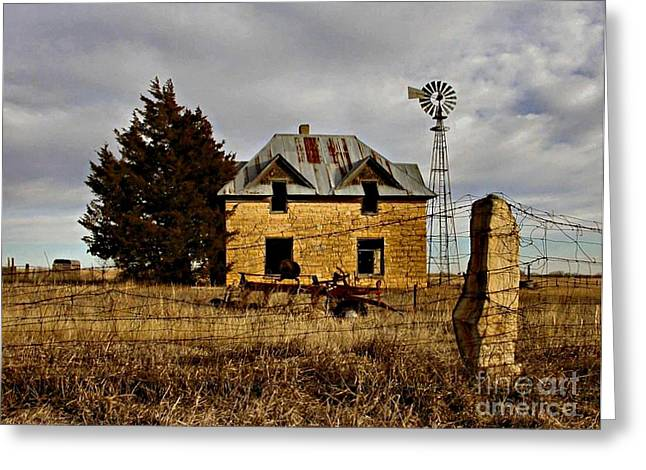 Greeting Card featuring the photograph Kansas Castle 1 by Lynne Wright