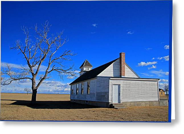 Kansas Church Greeting Card by Christopher McKenzie