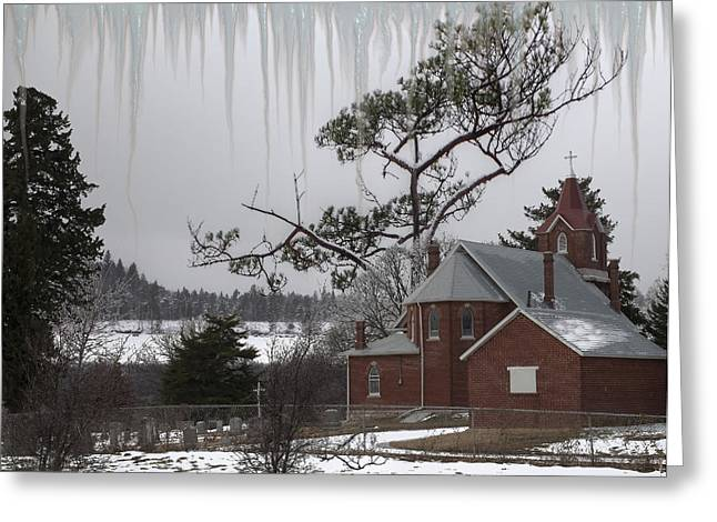 Greeting Card featuring the photograph Kansas Church by Liane Wright