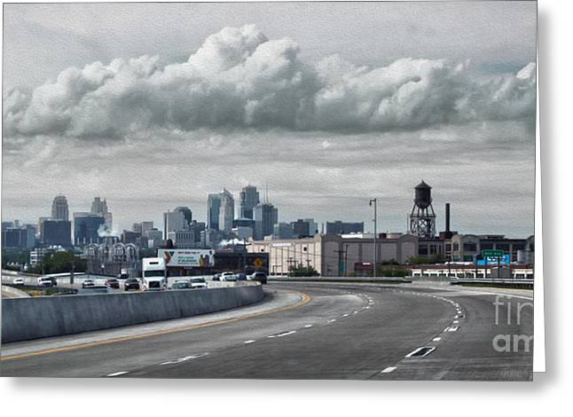 Kansas City - 01 Greeting Card by Gregory Dyer