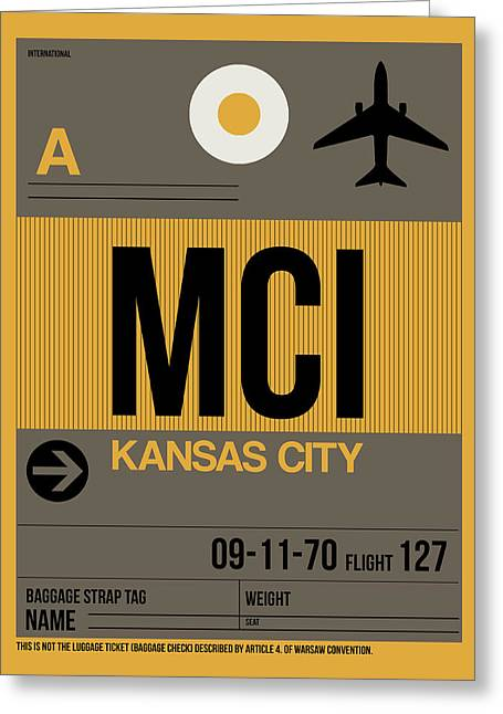 Kansas City Airport Poster 1 Greeting Card by Naxart Studio