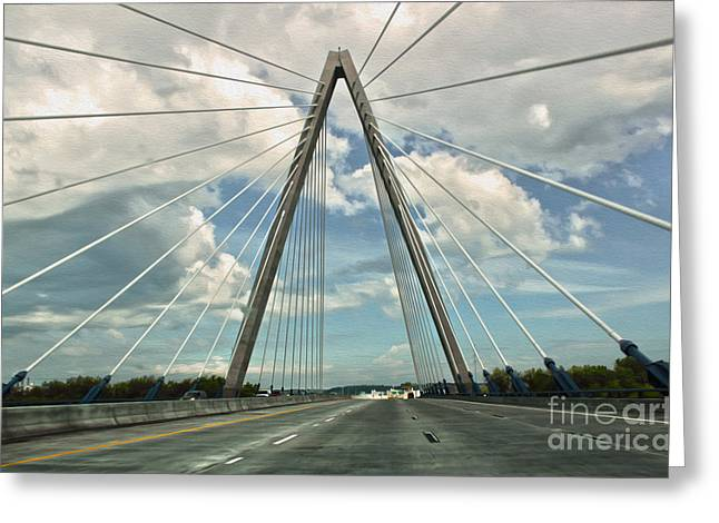 Kansas City Bridge - 01 Greeting Card by Gregory Dyer