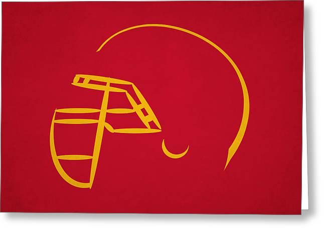 Kansas City Chiefs Helmet Greeting Card