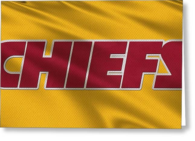 Kansas City Chiefs Uniforms Greeting Card