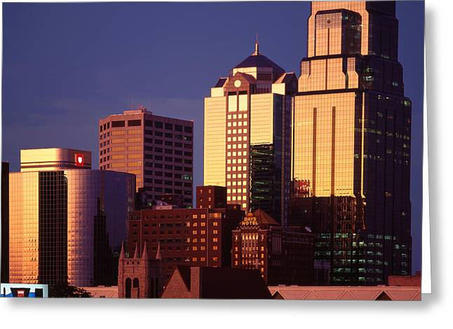 Kansas City Greeting Card by Don Spenner