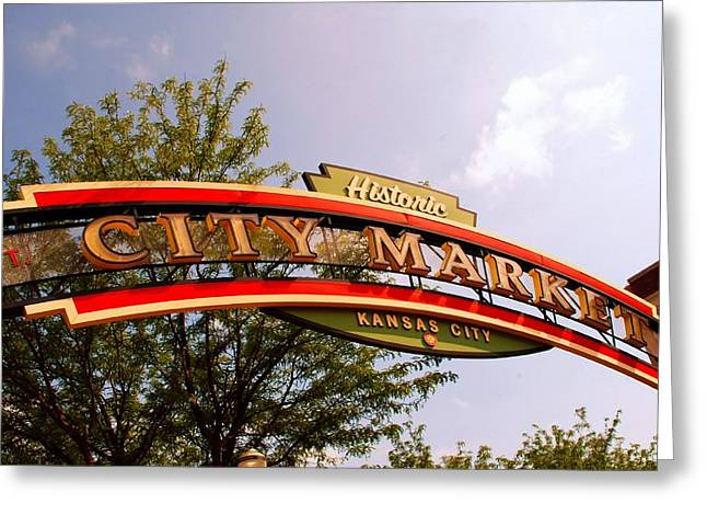 Kansas City Historic City Market Est 1857 Greeting Card