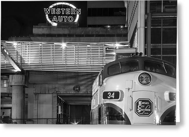 Kansas City Night Train Greeting Card