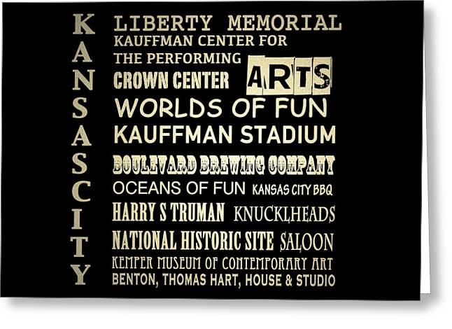Kansas City Famous Landmarks Greeting Card