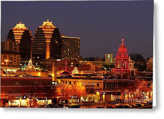 Kansas City Plaza Lights Greeting Card