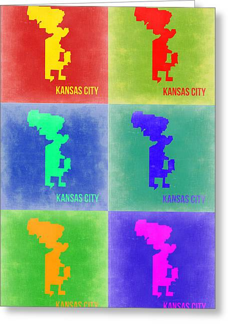 Kansas City Pop Art 1 Greeting Card by Naxart Studio