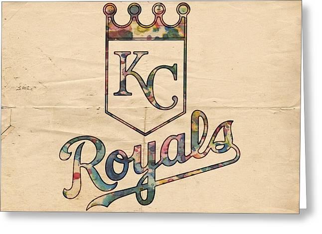 Kansas City Royals Poster Vintage Greeting Card