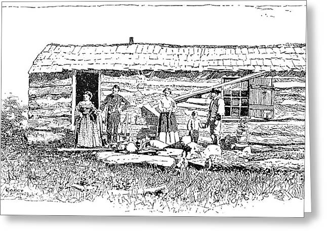 Kansas Early House, 1854 Greeting Card by Granger