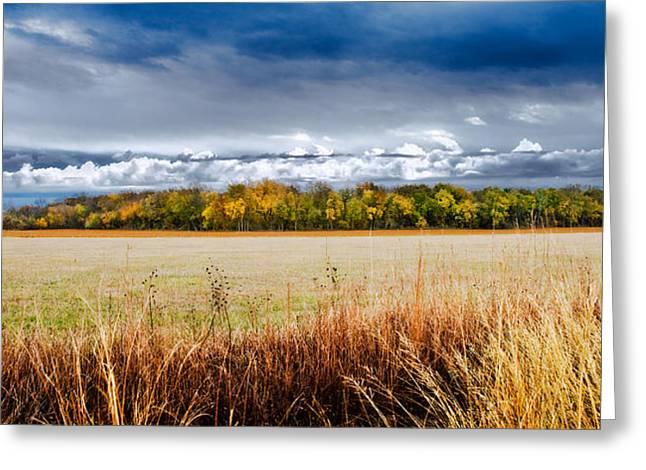 Kansas Fall Landscape Greeting Card